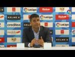 Rueda de prensa de  Pedro Emanuel tras el Rayo Vallecano vs UD Almería (1-1)