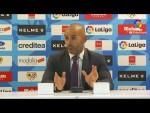 Rueda de prensa de  Paco Jémez tras el Rayo Vallecano vs UD Almería (1-1)