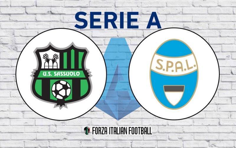 Sassuolo v SPAL: Official Line-Ups