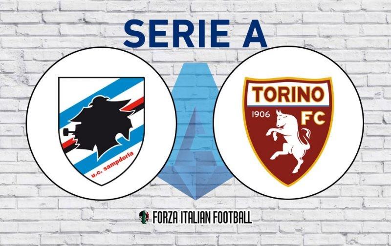 Sampdoria v Torino: Official line-ups