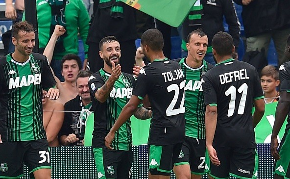 Caputo double helps Sassuolo swat SPAL aside