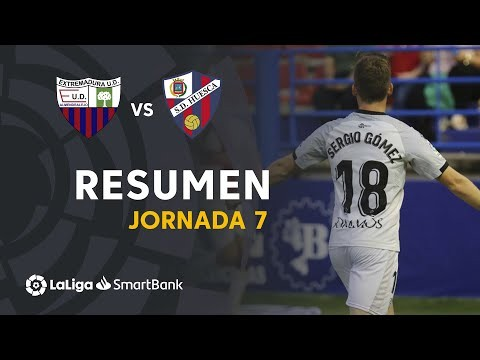 Resumen de Extremadura UD vs SD Huesca (0-1)