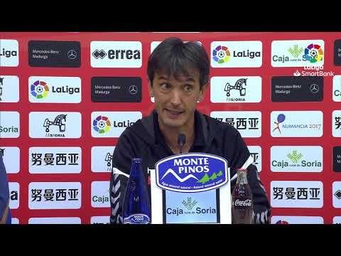Rueda de prensa de Pacheta tras el CD Numancia vs Elche CF (1-1)