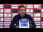 Rueda de prensa de Luis Carrión tras el CD Numancia vs Elche CF (1-1)