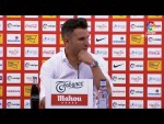 Rueda de prensa de Iván Ania tras el Real Sporting vs Real Racing Club (1-1)