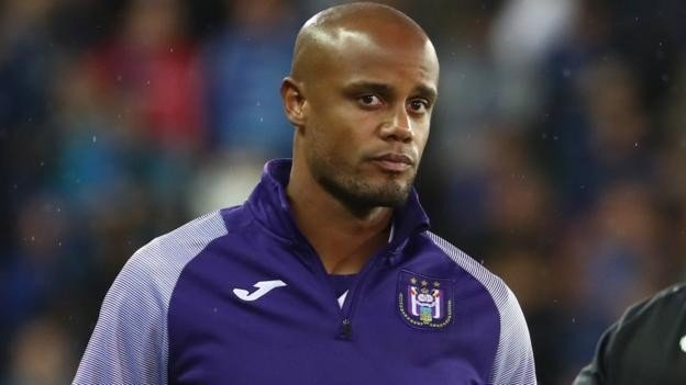 Image result for images of Vincent Kompany's woes as Anderlecht player-manager continued after a goalless draw with Waasland-Beveren in the Belgian