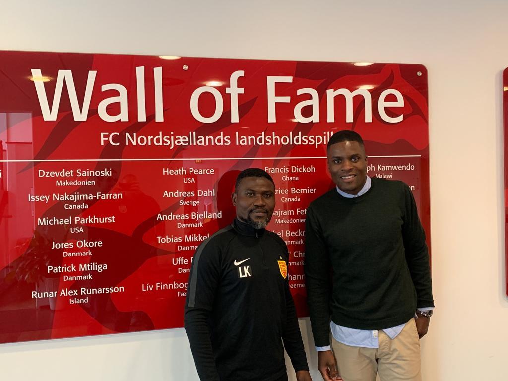 Laryea Kingston meets  ex-Ghana team-mate and Nordsjaelland legend Francis Dickoh