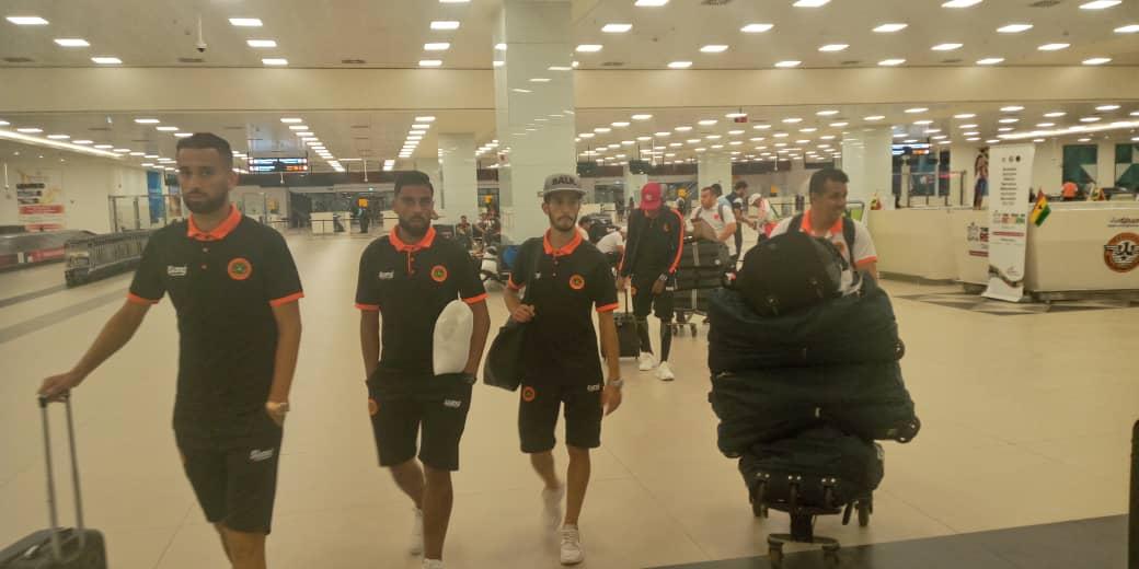 PHOTOS: Moroccan side RS Berkane arrive in Ghana ahead of AshantiGold clash