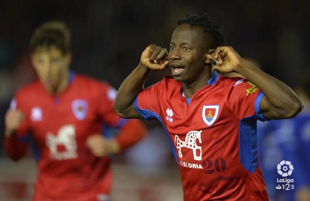 Yaw Yeboah scores in Celta Vigo's 4-2 win over Melila