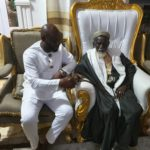 PHOTOS: George Afriyie pays courtesy call on Chief Imam ahead of GFA elections