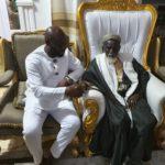 PHOTOS: George Afriyie pays courtesy call on Chief Imam ahead of GFA elections