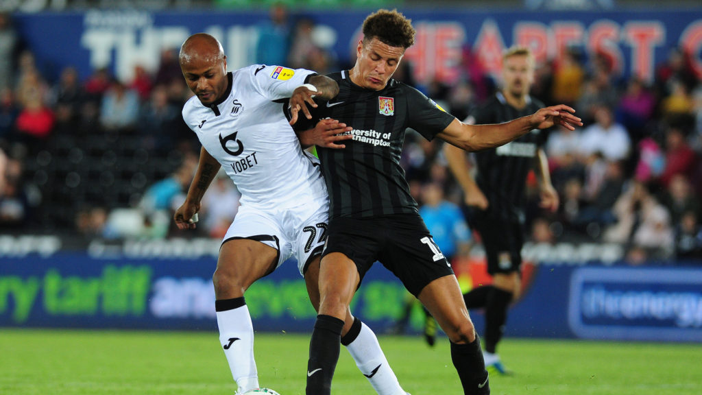 Andre Ayew nominated for Swansea Player for the month of August