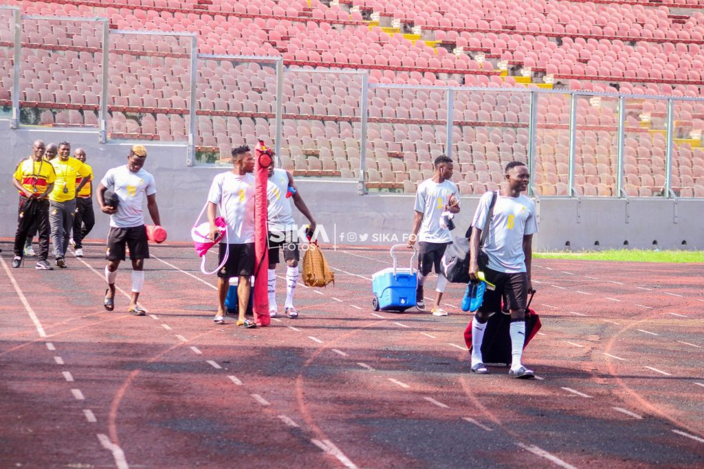 PHOTOS: Local Black Stars training at Baba Yara Stadium ahead of Burkina Faso CHAN qualifier
