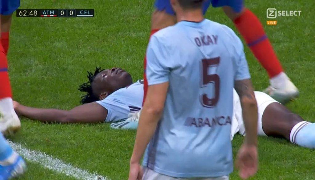 Joseph Aidoo plays through pain barrier to help Celta Vigo hold Partey's Atletico Madrid