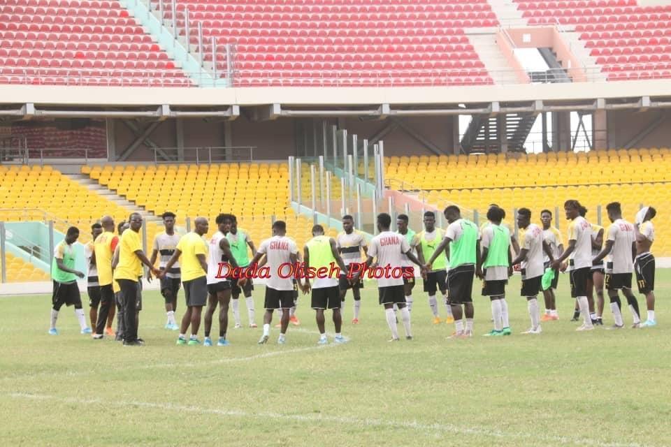 PHOTOS: Ghana U-23 side hold training session ahead of Algeria clash