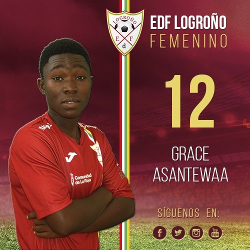 Grace Asantewaa makes full debut for Spanish side EDF Logroño Feminino in league draw