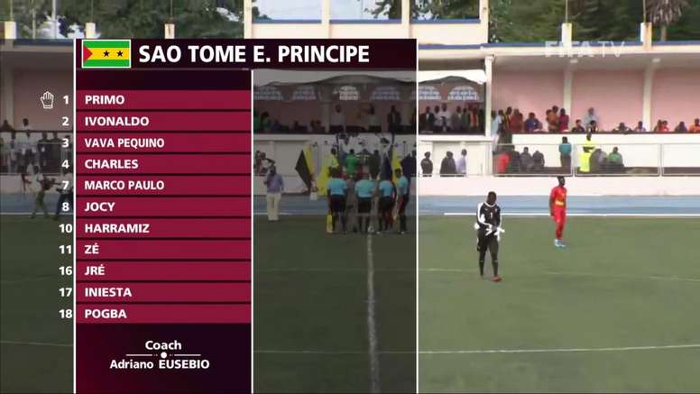 """'Iniesta' and """"Pogba' feature for Sao Tome and Principe in WC qualifier"""