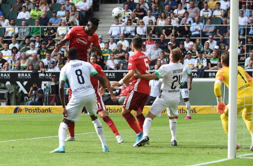 Kasim Adams promises more after scoring first league goal for Fortuna Dusseldorf