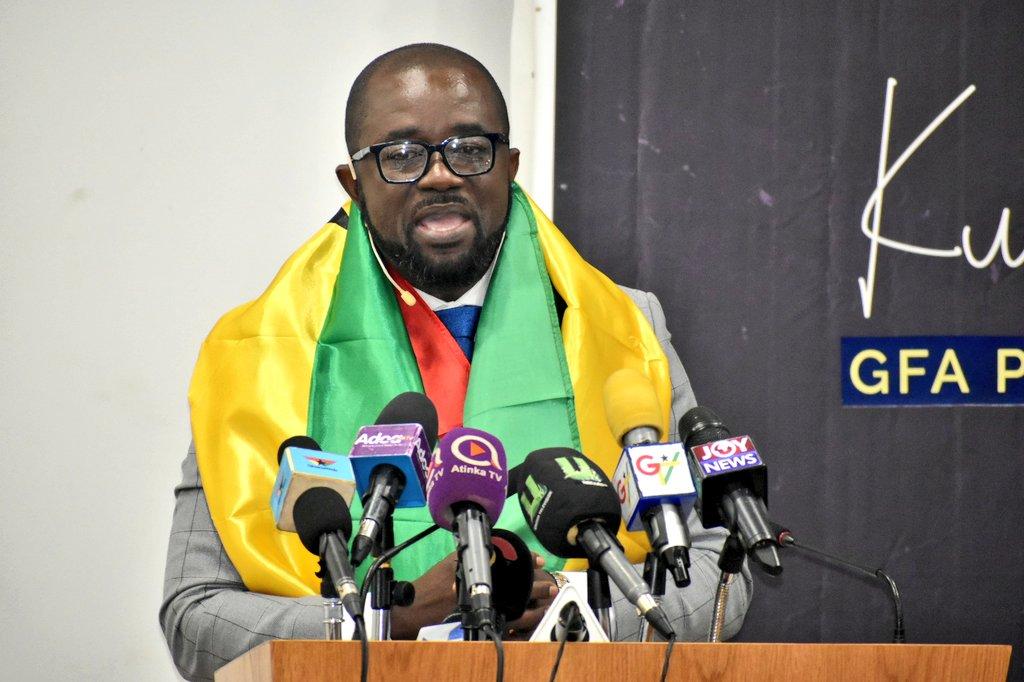 Aspirant Kurt Okraku outdoors FOUR thematic points for Ghana FA presidential slot
