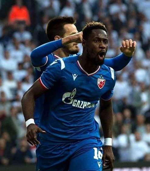 UEFA Champions League: Crvena zvezda striker Richmond Boakye Yiadom eyes more goals in group stage