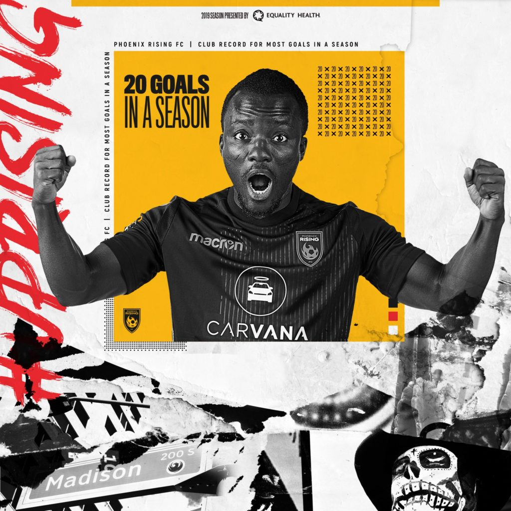 In-form Solomon Asante named USL Player of the Month for August