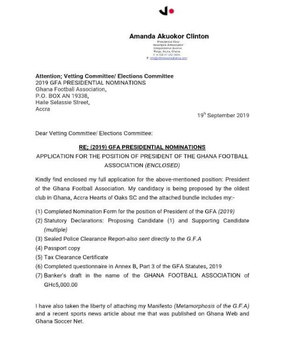 Amanda Clinton statement