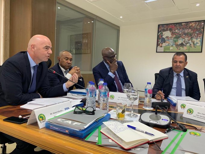 FIFA President Infantino arrives in Cairo to jointly inaugurate CAF reforms taskforce