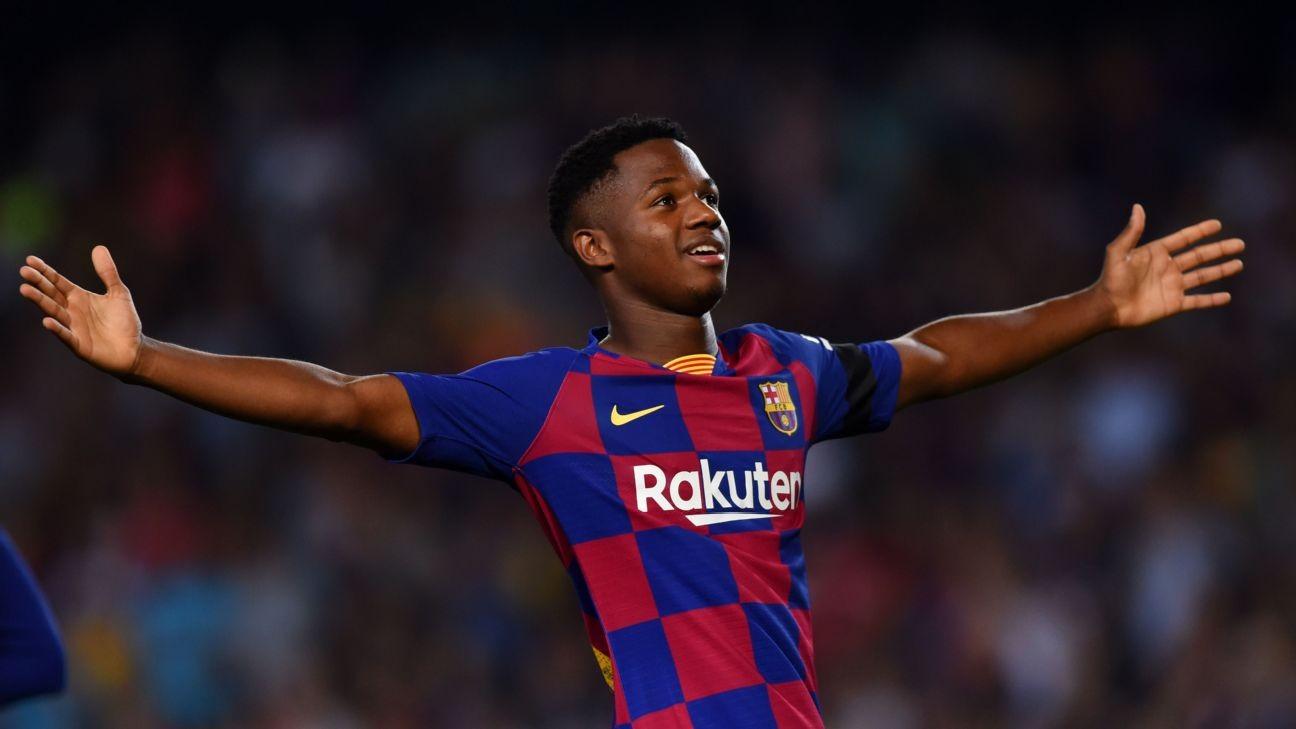 Barcelona's Ansu Fati called up to Spain U21 squad