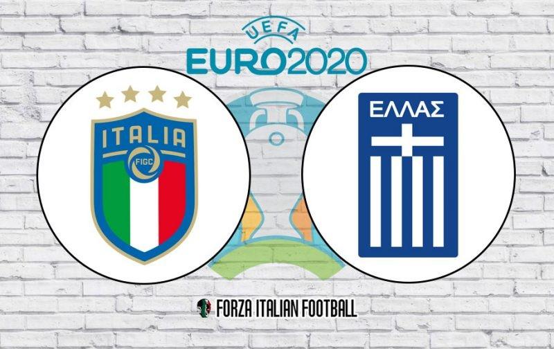 Italy v Greece: Official Line-ups
