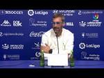 Rueda de prensa de  Jon Pérez Bolo tras el Extremadura UD vs SD Ponferradina (1-1)