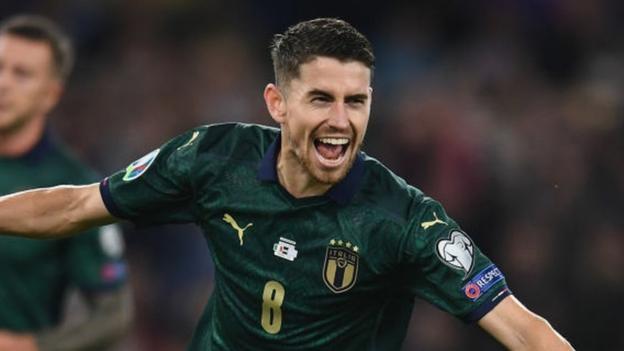Italy 2-0 Greece: Chelsea's Jorginho scores as Italy secure Euro 2020 spot