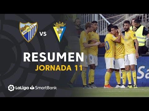 Resumen de Málaga CF vs Cádiz CF (1-2)