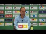Rueda de prensa de  José Alberto López tras el Elche CF vs Real Sporting (0-1)