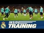 Real Madrid training session ahead of Galatasaray