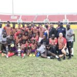 Former Newcastle United star Titus Bramble congratulates Hearts of Oak after Homowo Cup victory over Great Olympics