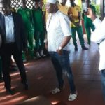 VIDEO: Ghana legend Abedi Pele hosts Nigerien giants Sahel FC at his resident