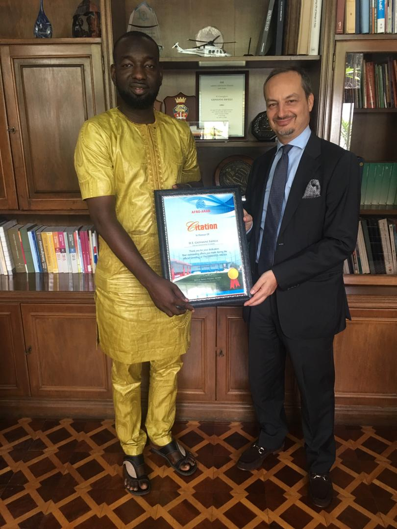 Italian Ambassador praises Afro-Arab for vigorous transformation