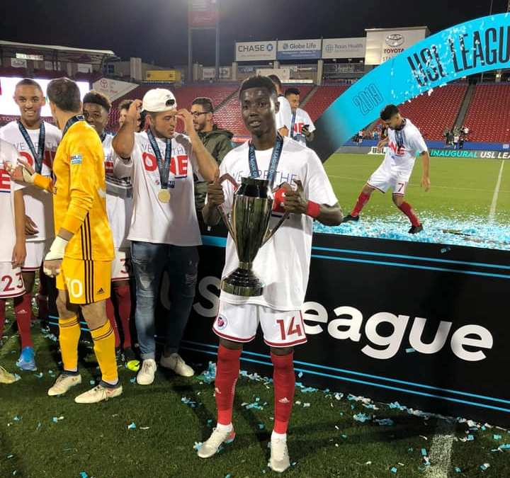 On-loan Richard Danso wins maiden USL-One championship with North Texas SC