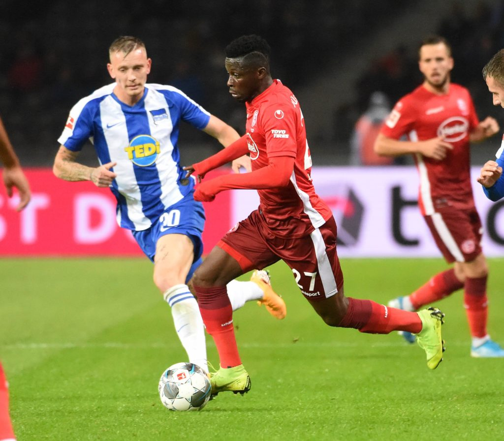 Fortuna Dusseldorf duo Bernard Tekpetey and Nana Ampomah taste defeat on full league debuts