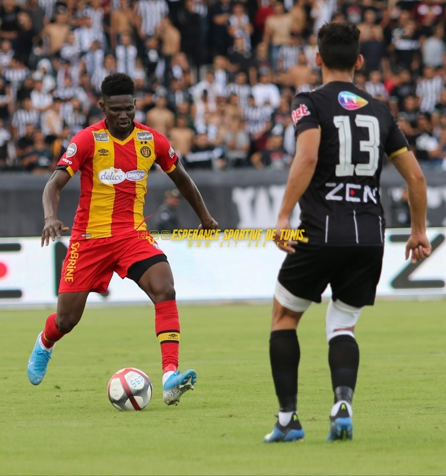 Esperance midfielder Kwame Bonsu eulogized after superb display against CS Sfaxien