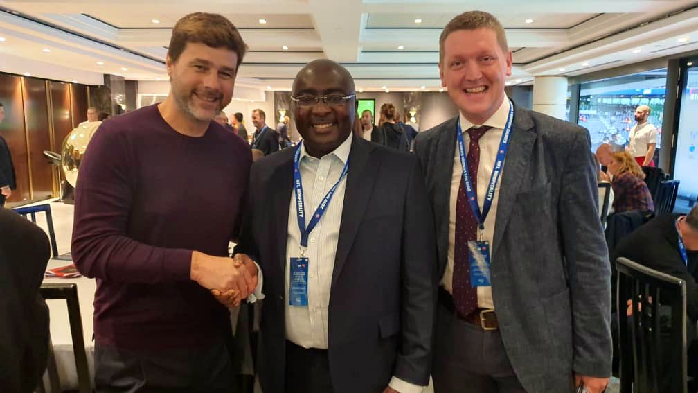 Tottenham Hotspur host Ghana vice president Dr. Mahamudu Bawumia for NFL match