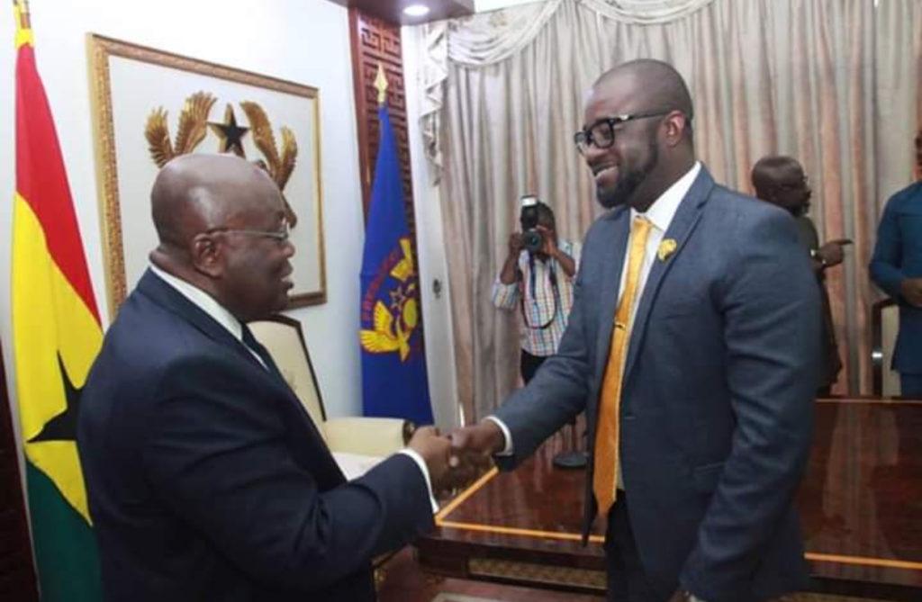 PHOTOS: GFA boss Kurt Okraku meets President Akufo-Addo