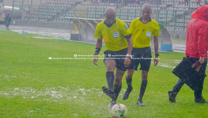 CAF Confederation Cup: Asante Kotoko's clash with San Pedro in Kumasi abandoned due to heavy rain