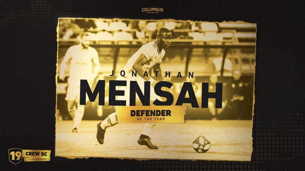 Ghana ace Jonathan Mensah named Columbus Crew Best Defender