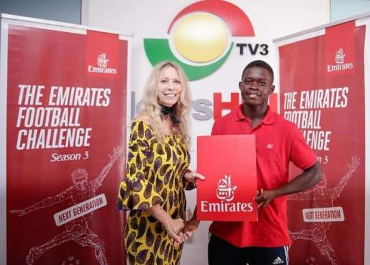 Samuel Abu wins third edition of Emirates football challenge