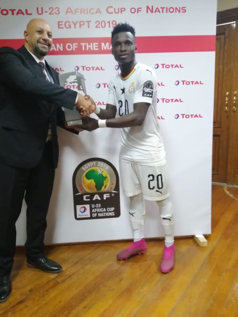 2019 U-23 AFCON: Evans Mensah named Man-of-the Match in Ghana's draw with Cameroon