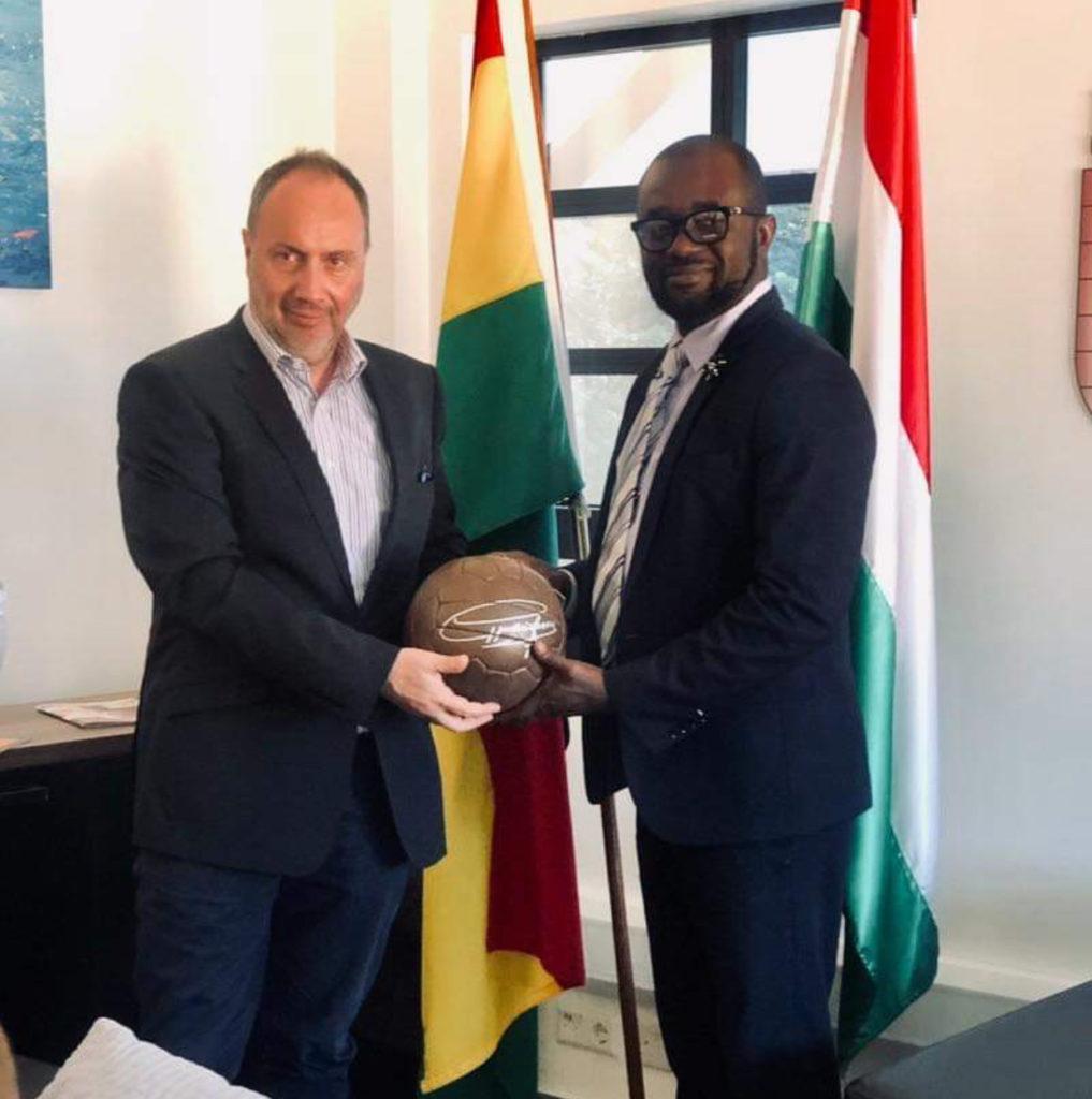 New GFA president Kurt Okraku meets Hungarian Ambassador Andras Szabo