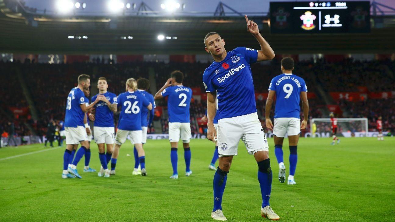 Everton claim first away win of season, ease pressure on Marco Silva