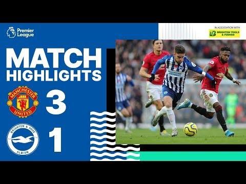 Manchester United 3 Brighton & Hove Albion 1