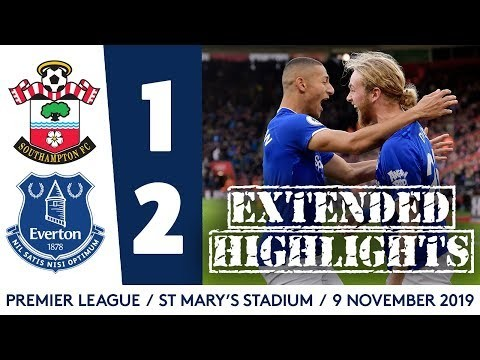 EXTENDED HIGHLIGHTS: SOUTHAMPTON 1-2 EVERTON